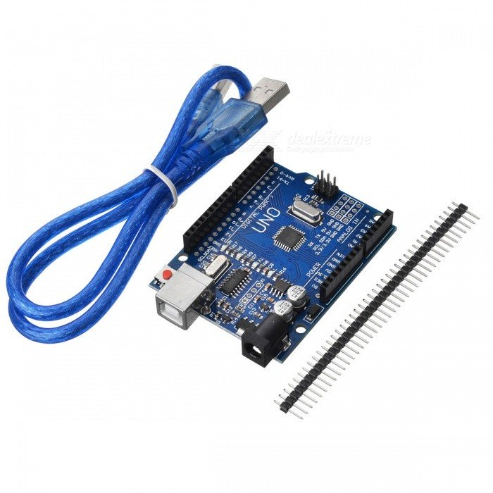 Development Board w/ Data Cable for Arduino UNO R3 - Deep Blue (52cm)