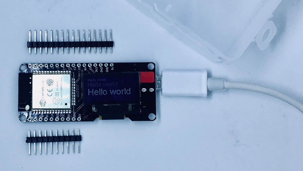 wemos lolin32 oled ssd1306 face to face