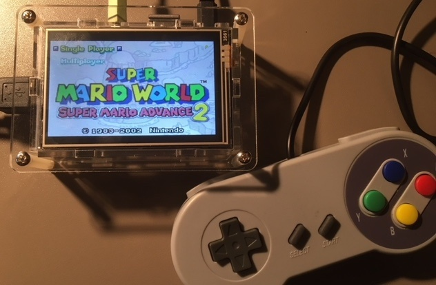 super mario gameboy advanced retropie raspberry pi 3 lcd display portable