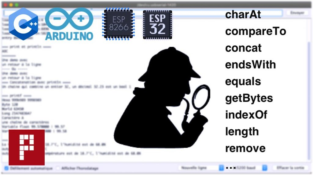 arduino string functions charAt compareTo concat endsWith equals getBytes indexOf length remove