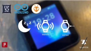 ttgo t-watch esp32 deep sleep wakeup bma423 axp202 no freertos