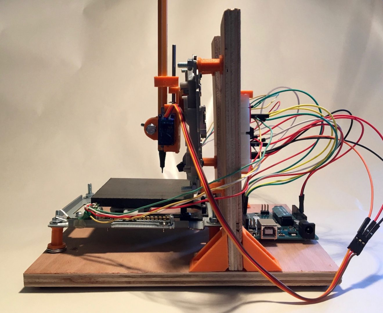 Make A Mini Cnc Plotter With Old Dvd Players Arduino And L293d Diy Power Point Wiring