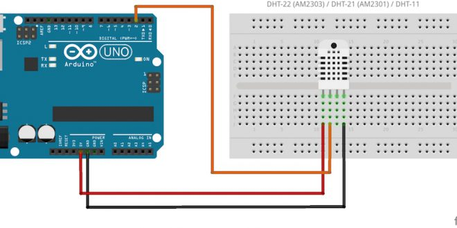arduino DHT22 circuit wiring library