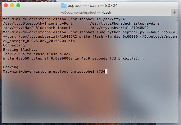 Esptool: update ESP8266 NodeMCU firmware on macOS • DIY Projects