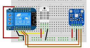 ESP8266 DHT22 BMP180 wemos Shield Relay jeedom ESP8266HTTPCLIENT_