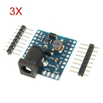 3Pcs WeMos® DC Power Shield V1.0.0 For WeMos D1 Mini