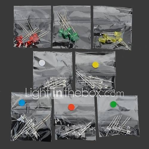 5mm LED Diodes - (Red Yellow Multicolored) (40 PCS)