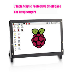 "7"" inch Acrylic Touch Screen Stand Case Protective Shell For Raspberry Pi"