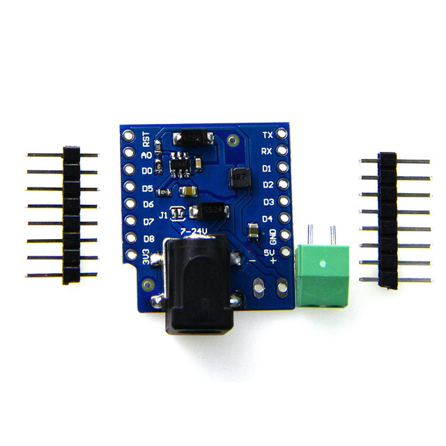 DC Power Shield V1.1.0 for WEMOS D1 mini 7-24V 1A