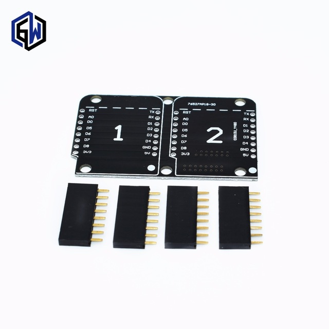 Double Socket Dual Base Shield D1 Mini NodeMCU ESP8266 Diy PCB D1 Expansion board