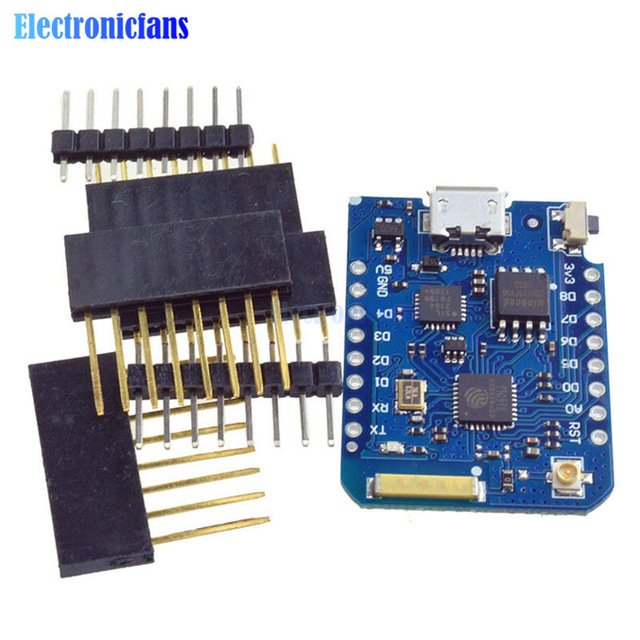 For WEMOS D1 Mini Pro 16M Bytes External Antenna Connector NodeMCU ESP8266 ESP8266F CP2104 WIFI IOT Development Board With Pins