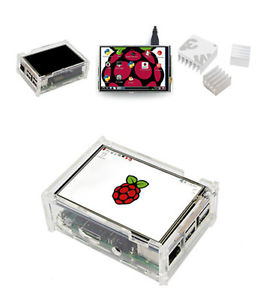 "New 3.5"" LCD Display Touch Screen Kit w/ Case Pen Heatsink for Raspberry Pi 3"