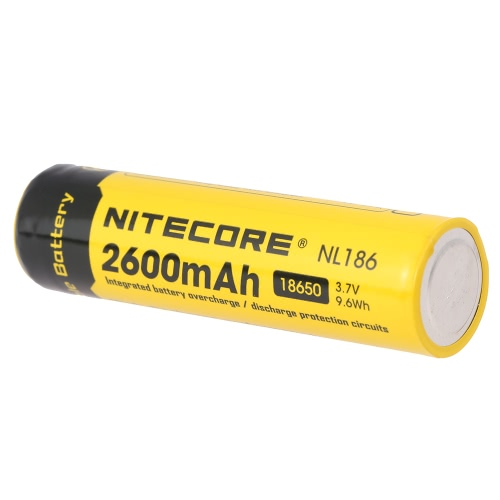 NITECORE 18650 Rechargeable Battery 2600mAh 3.7V High Capacity for LED Flashlight Torch Lamp Headlight Headlamp with PCB