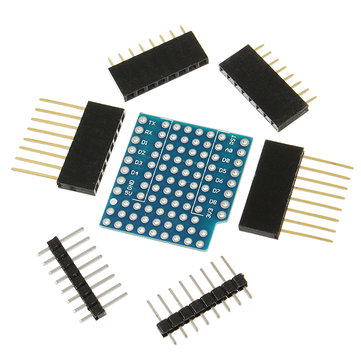 WeMos® ProtoBoard Shield For WeMos D1 Mini Double Sided Perf Board Compatible