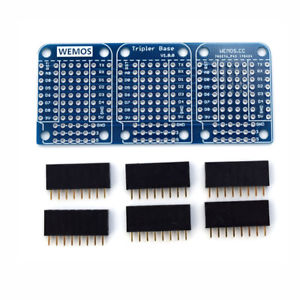 Wemos Tripler Base V1.0.0 For WEMOS D1 Mini