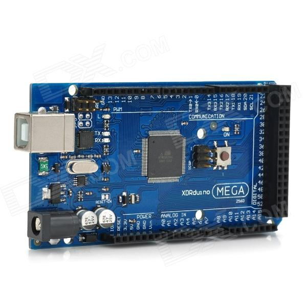 Mega 2560 R3 ATmega2560-16AU Board + USB Cable for Arduino -Black+Blue