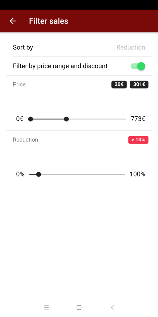 diprojects app android ios deal filter