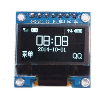 OLED display SSD1306 in MicroPython, example with a I2C